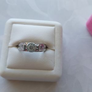 Classic CZ Sterling Silver Ring